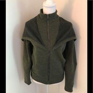 ALO Yoga Chill Jacket Green/Heather Gray M